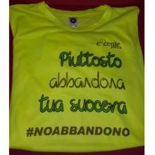 T-Shirt Coccolepet #noabbandono - gialla - microfibra